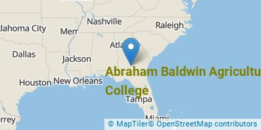 Location of Abraham Baldwin Agricultural College