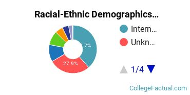 Academy of Art University Undergraduate Racial-Ethnic Diversity Pie Chart