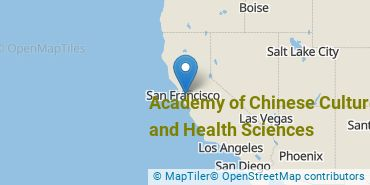 Location of Academy of Chinese Culture and Health Sciences