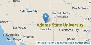 Location of Adams State University