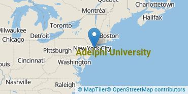Location of Adelphi University