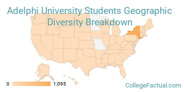 Where are Adelphi Students From?