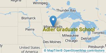 Location of Adler Graduate School