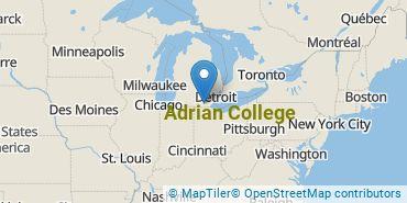 Location of Adrian College