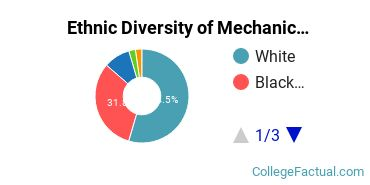 Ethnic Diversity of Mechanic & Repair Technologies Majors at Advanced Technology Institute