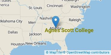 Location of Agnes Scott College
