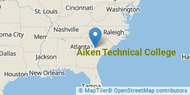 Location of Aiken Technical College