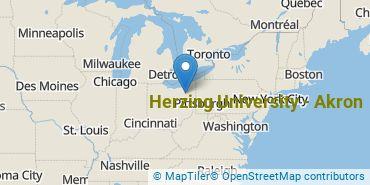 Location of Herzing University - Akron