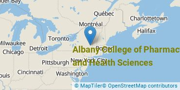 Location of Albany College of Pharmacy and Health Sciences