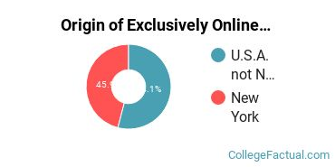 Origin of Exclusively Online Students at Albany Medical College