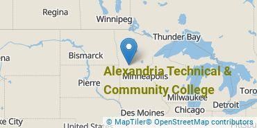 Location of Alexandria Technical & Community College