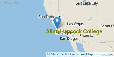 Location of Allan Hancock College