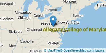 Location of Allegany College of Maryland