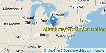 Location of Allegheny Wesleyan College