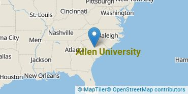 Location of Allen University