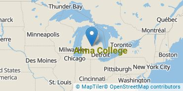 Location of Alma College