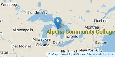 Location of Alpena Community College