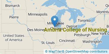 Location of Ambria College of Nursing