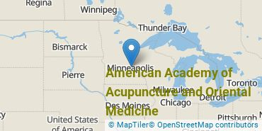 Location of American Academy of Acupuncture and Oriental Medicine