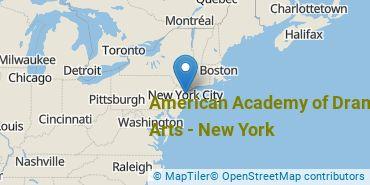 Location of American Academy of Dramatic Arts - New York