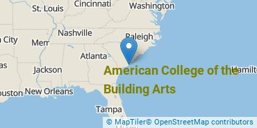 Location of American College of the Building Arts