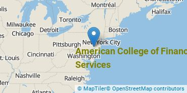 Location of American College of Financial Services