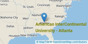 Location of American InterContinental University - Atlanta