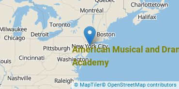 Location of American Musical and Dramatic Academy