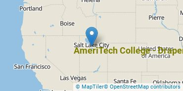 Location of AmeriTech College - Draper