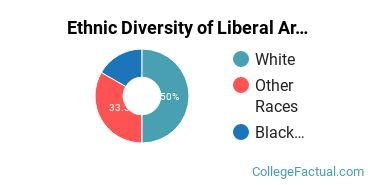 Ethnic Diversity of Liberal Arts / Sciences & Humanities Majors at Anderson University Indiana