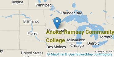Location of Anoka-Ramsey Community College