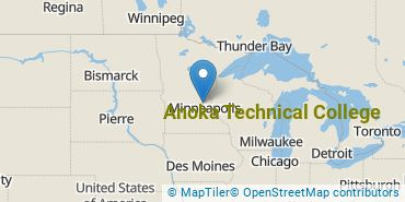 Location of Anoka Technical College