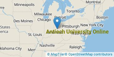 Location of Antioch University Online