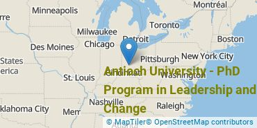 Location of Antioch University - PhD Program in Leadership and Change