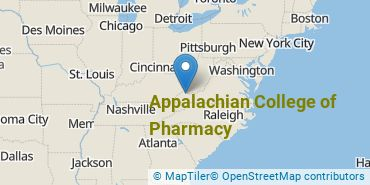 Location of Appalachian College of Pharmacy