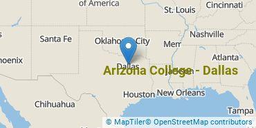 Location of Arizona College - Dallas