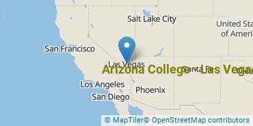 Location of Arizona College - Las Vegas