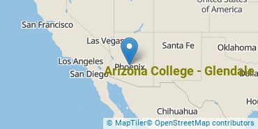Location of Arizona College - Glendale