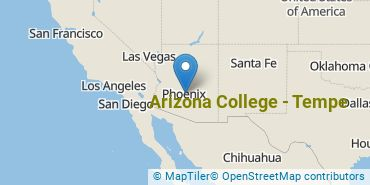 Location of Arizona College - Tempe