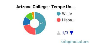 Arizona College - Tempe Undergraduate Racial-Ethnic Diversity Pie Chart