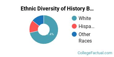 Ethnic Diversity of History Majors at Arizona State University - Polytechnic