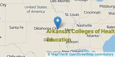 Location of Arkansas Colleges of Health Education