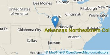 Location of Arkansas Northeastern College