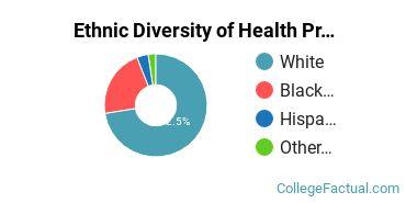 Ethnic Diversity of Health Professions Majors at Arkansas State University - Main Campus
