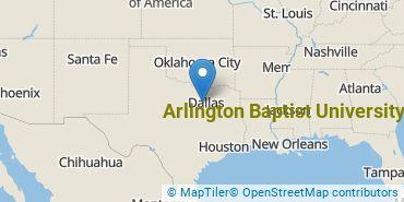 Location of Arlington Baptist University