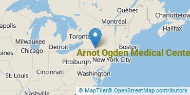Location of Arnot Ogden Medical Center