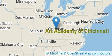 Location of Art Academy of Cincinnati