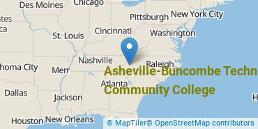 Location of Asheville-Buncombe Technical Community College