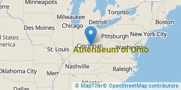 Location of Athenaeum of Ohio