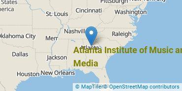 Location of Atlanta Institute of Music and Media